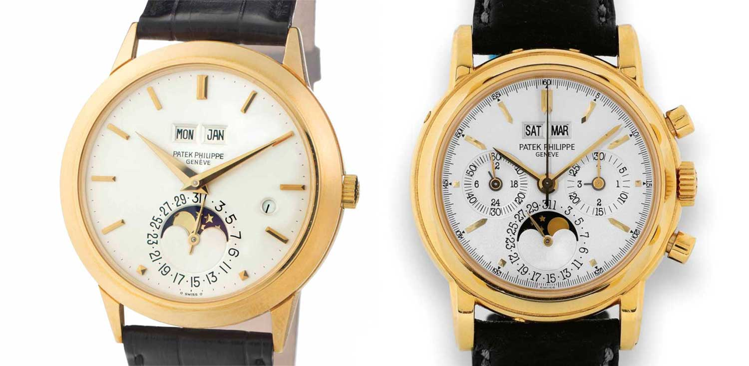 During the Quartz Crisis, Philippe Stern renewed his commitment to mechanical watchmaking with the creation of watches like the ref. 3450 (left) and ref. 3970 (right)