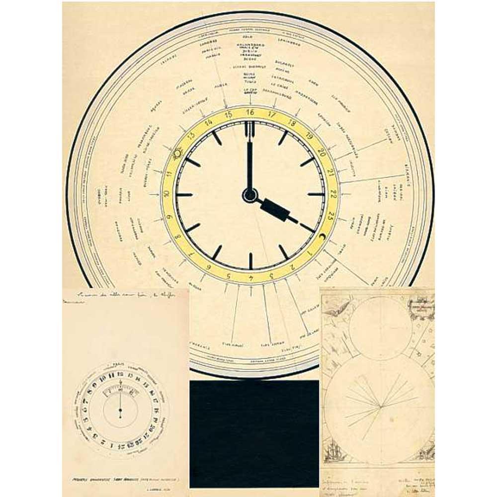 The original design for Louis Cottier's World Timer