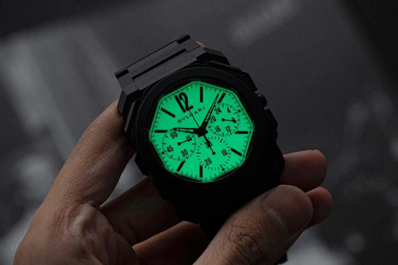 "The Bvlgari Octo Finissimo Ceramic Chronograph GMT ""Nuclear Option"" for Revolution & The Rake (© Revolution)"