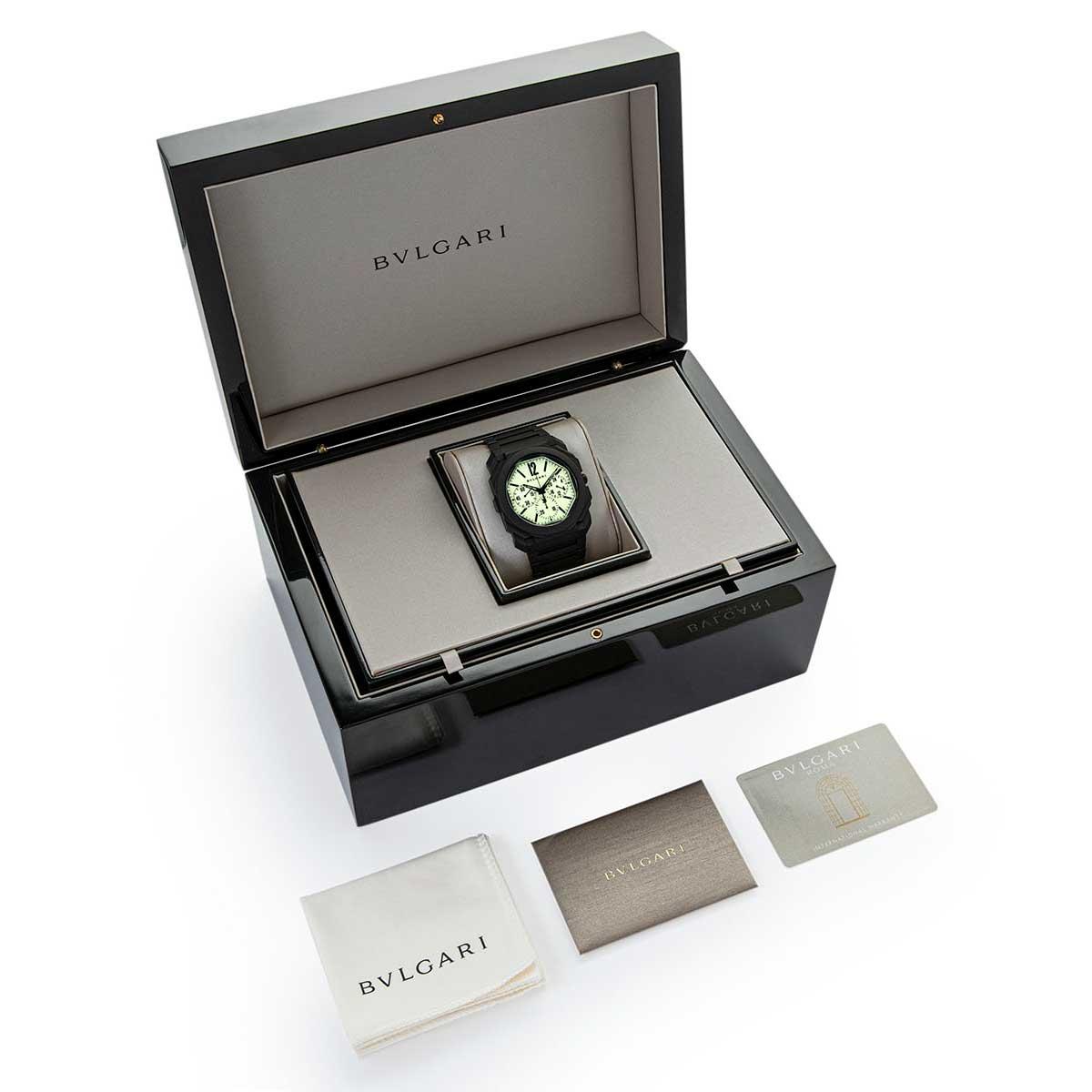 "Bvlgari Octo Finissimo Chronograph GMT in Black Ceramic: The ""Nuclear Option"" for Revolution & The Rake (© Revolution)"