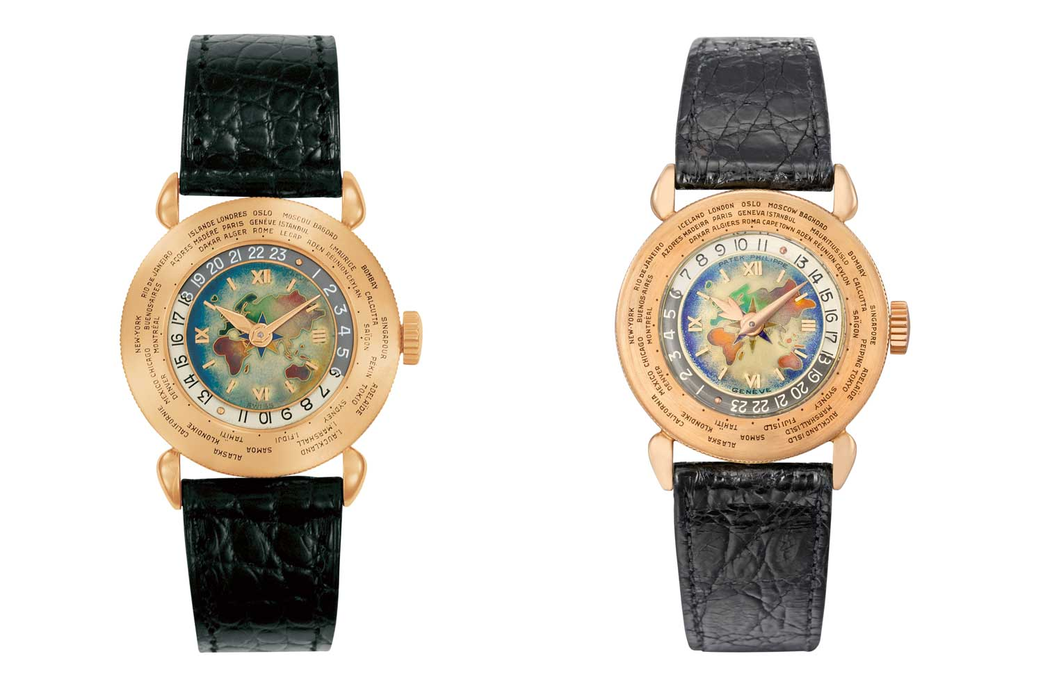 Louis Cottier designed some truly ornate and beautiful hands for 1415. Some of the most distinct are Cottier's circular or fleur-de-lys hour hand usually combined with a sword shaped minute hand. (Images : Patek Philippe)