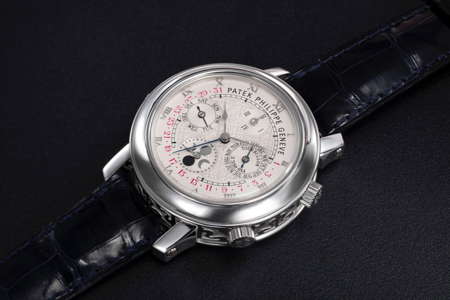 Christie's sold the Patek Philippe's Sky Moon Tourbillon Ref. 5002 for CHF1.4 million at its Dubai Edit in March. It set the record for the most expensive watch sold at auction in the Middle East and the new auction record for any watch sold online at Christie's.