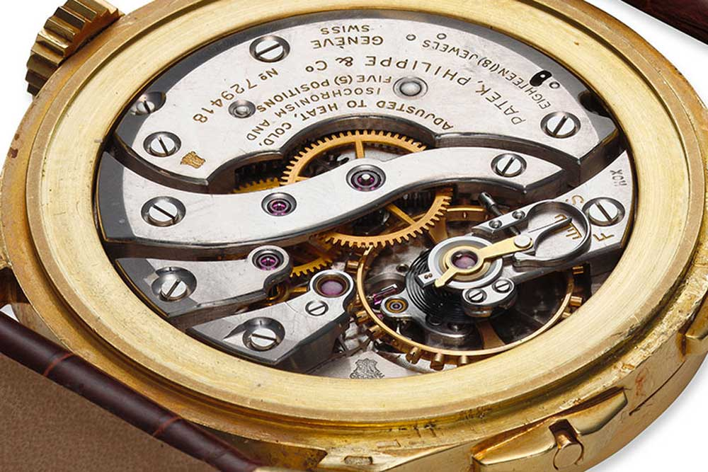 The movement selected for ref. 2597 was a modified 12-400, the 12-400 HS (Heures Sautantes or Jumping Hours). (Image : Collectability)