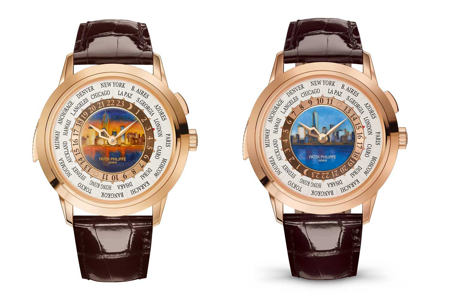 """The first execution of the 5531R depicting Manhattan's skyline was made with two dial designs """"New York by Day"""" and """"New York by Night"""" in 2017"""