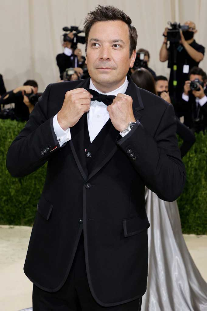 The Tonight Show host, Jimmy Fallon was in attendance with a Speedmaster MK II