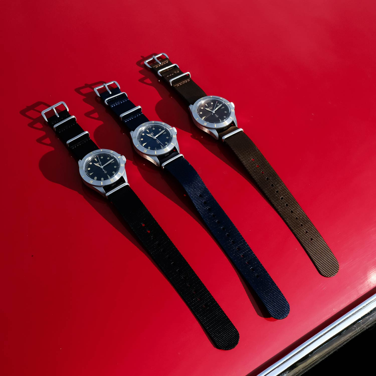 BND Watches' initial collection comprises three watches, each available in a numbered and limited edition of 150 pieces.