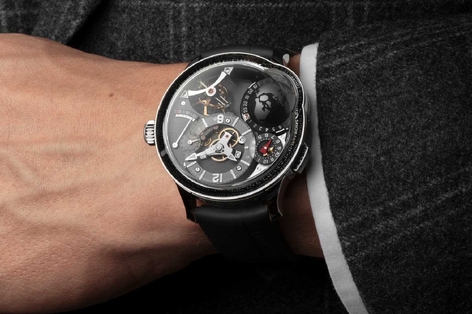 Limited to just 11 pieces, this is Greubel Forsey's third and final signature watch in the GMT Earth series.