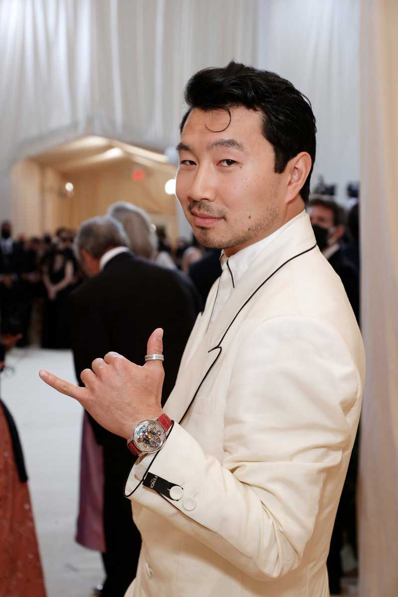 Marvel's Shang Chi star Simu Liu made his Met Gala debut in Fendi and a version of the Jacob & Co. Astronomia on his wrist