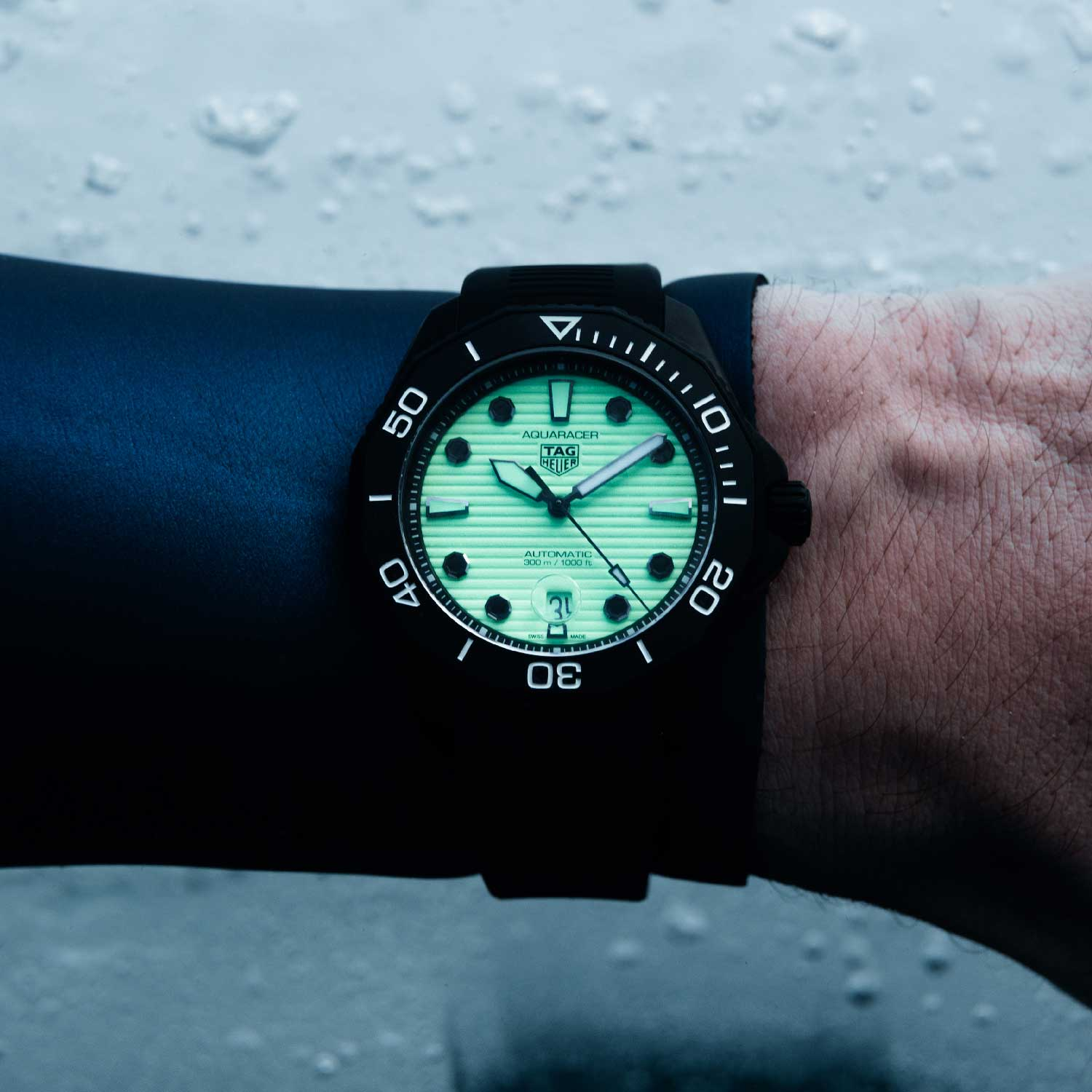 The standout model of the new release is the black DLC-coated Night Diver that has a fully luminescent dial coated in green Super-LumiNova® to deliver exceptional glow-in-the-dark performance.