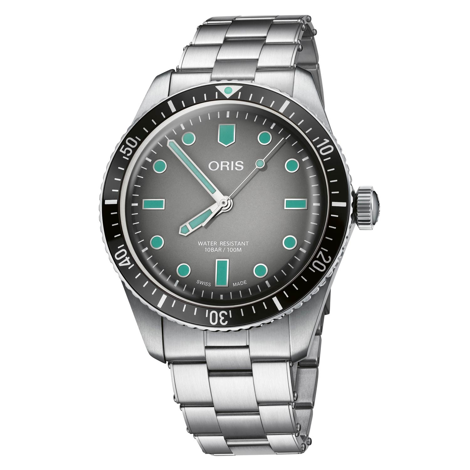 The watch has a slim case and domed sapphire which match the familiar to the comfortable.