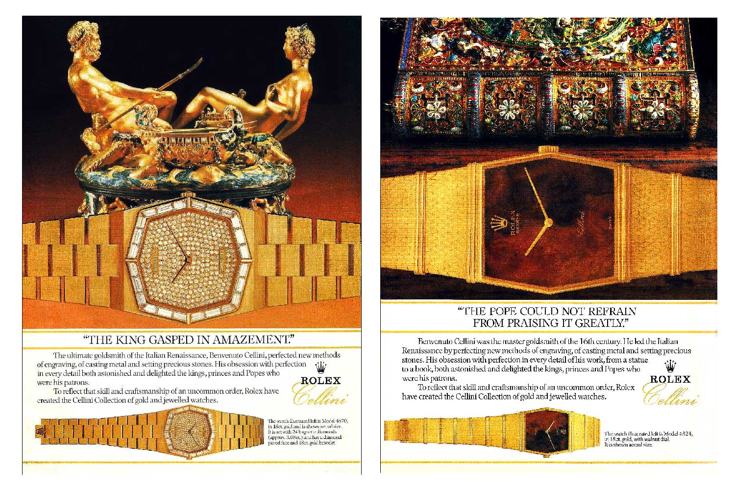 Old advertisements for Rolex Cellini (Image: Rolexmagazine.com)