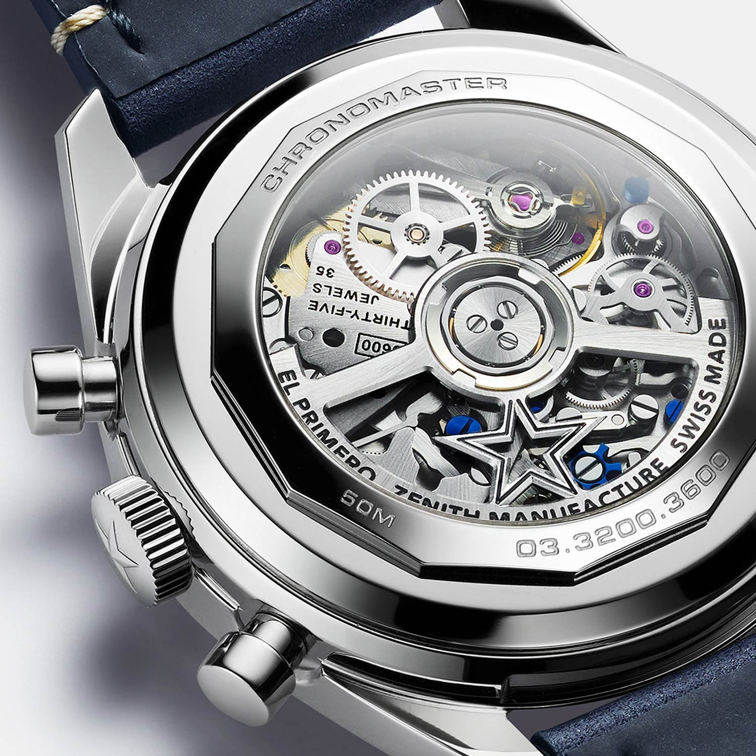 The only departure from the original A386 is the caseback, which is see-through for this version.