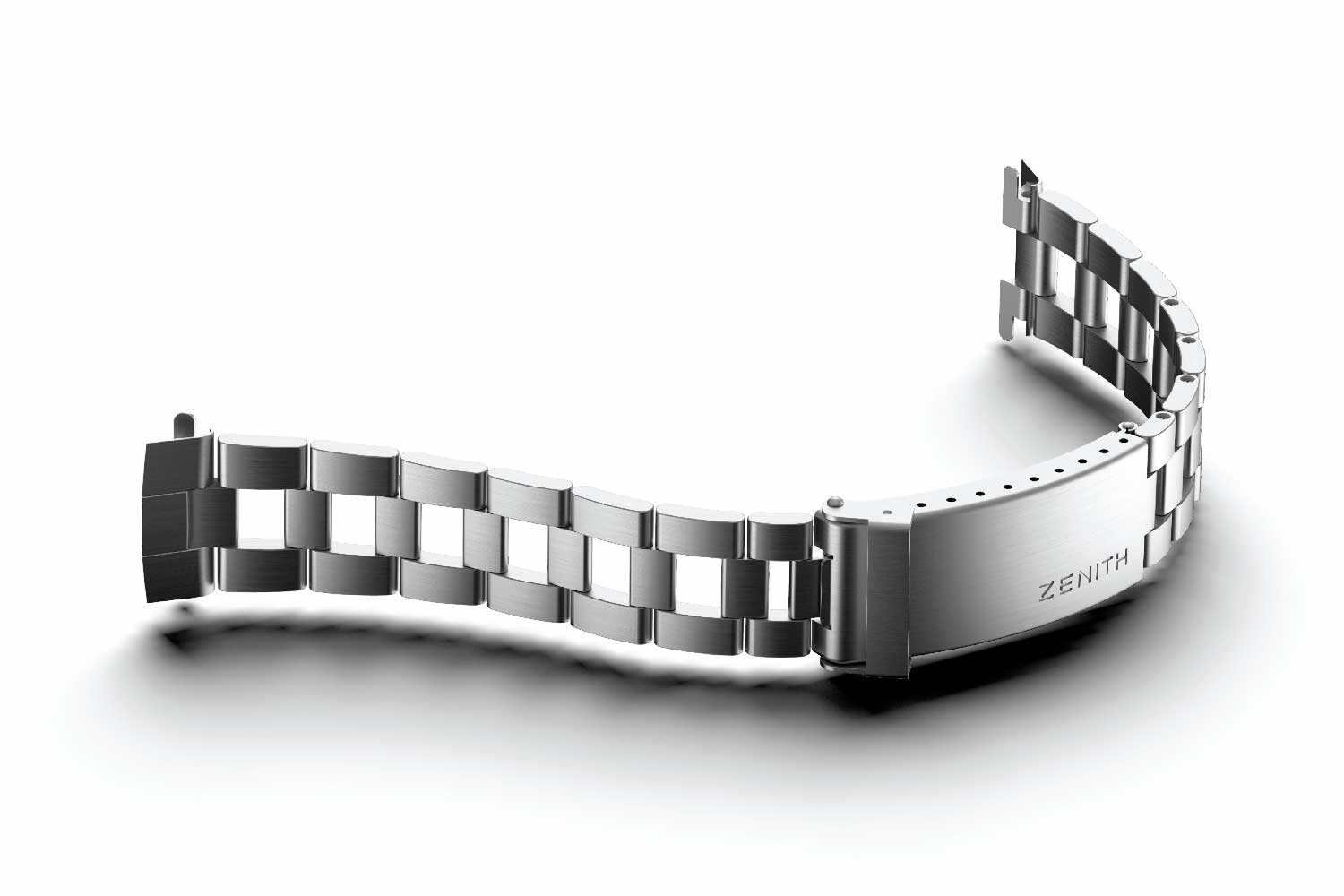 GF was the market leader in steel bracelet manufacturing, which is much harder than working with gold. Seen here is an example of Gay Frères bracelet made for Zenith.
