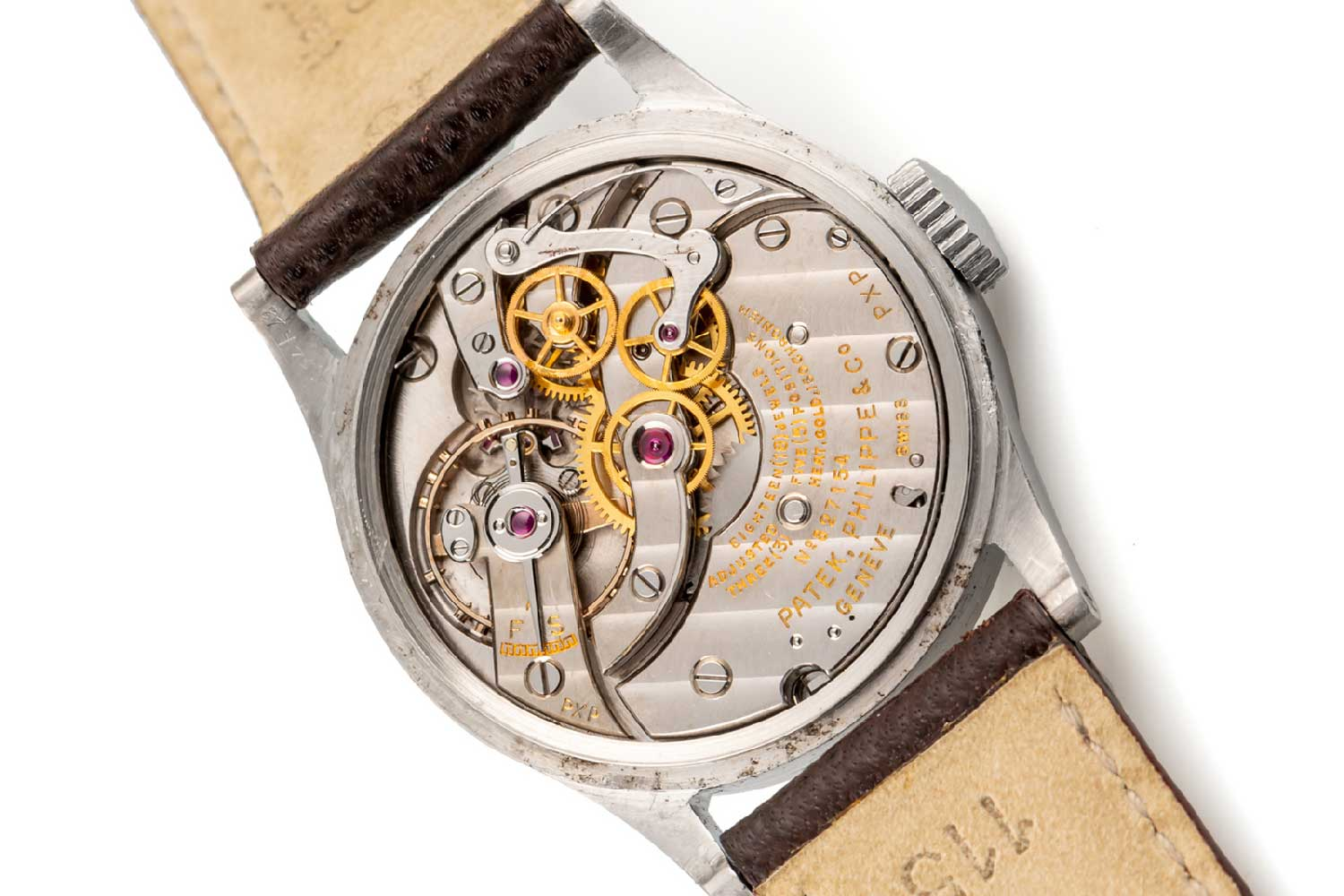 The calibre 12-120SC incorporating a notably elaborate indirect central seconds mechanism (Image: Antiquorum)