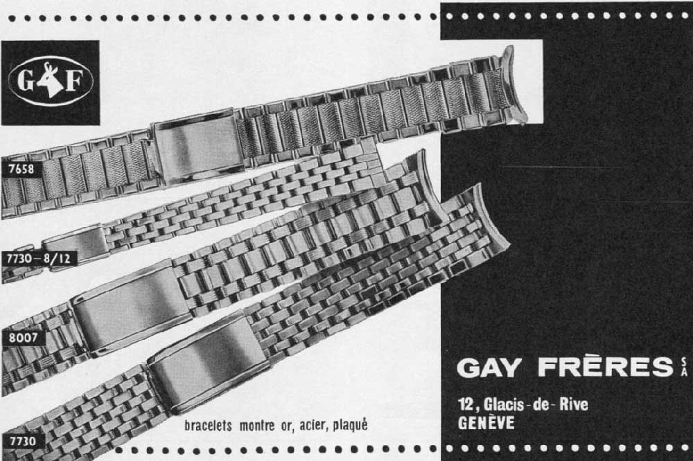 Original Gay Frères print adverts
