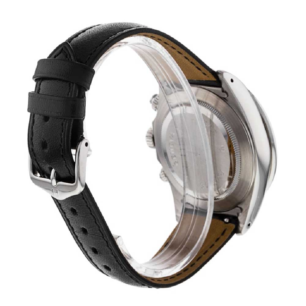The watch still has its removable end links, which give a neater look on a leather strap and can be removed if worn on a bracelet.