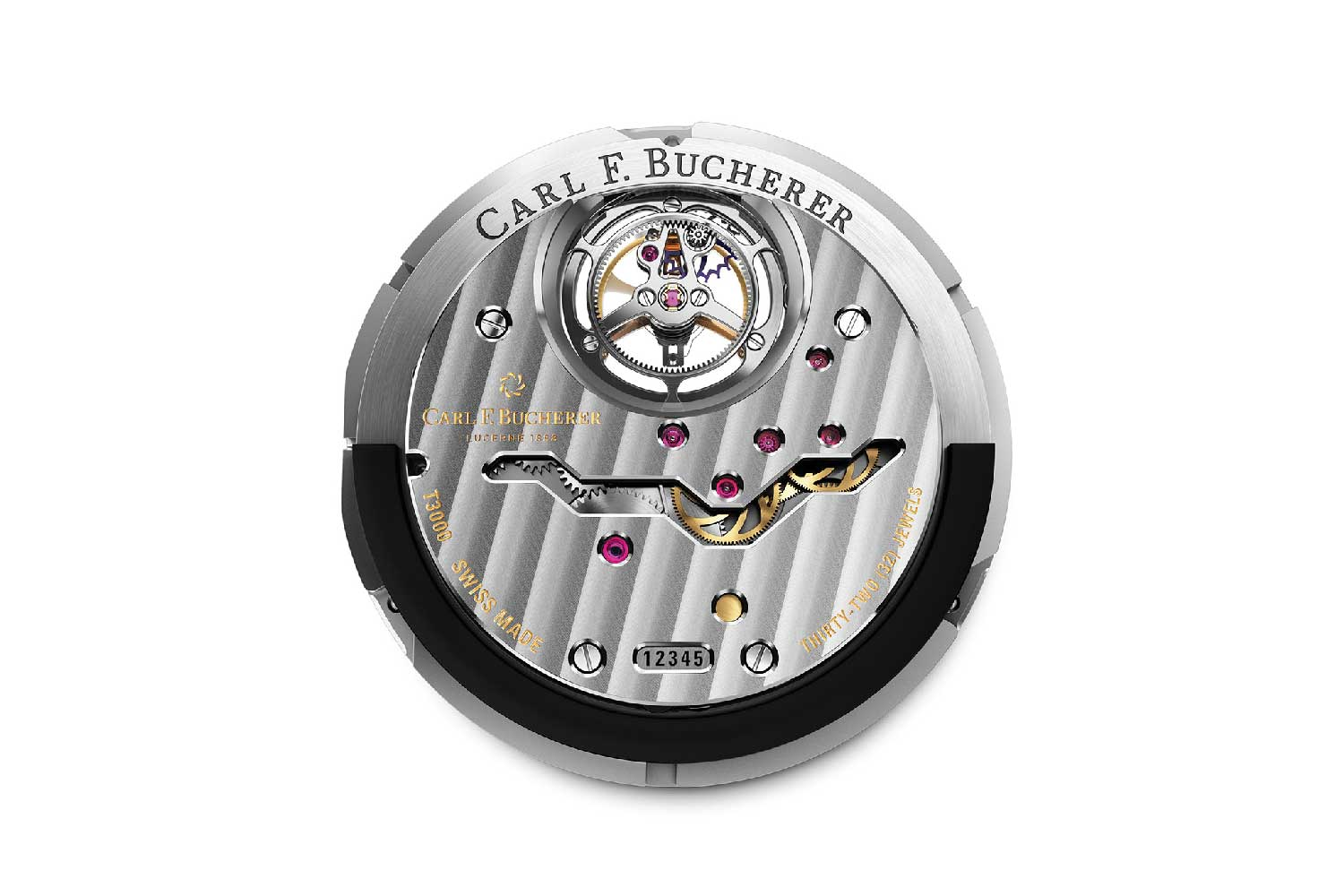 The watch is powered by the in-house CFB T3000 calibre, which boasts a floating tourbillon and an automatic winding system that are both mounted peripherally.