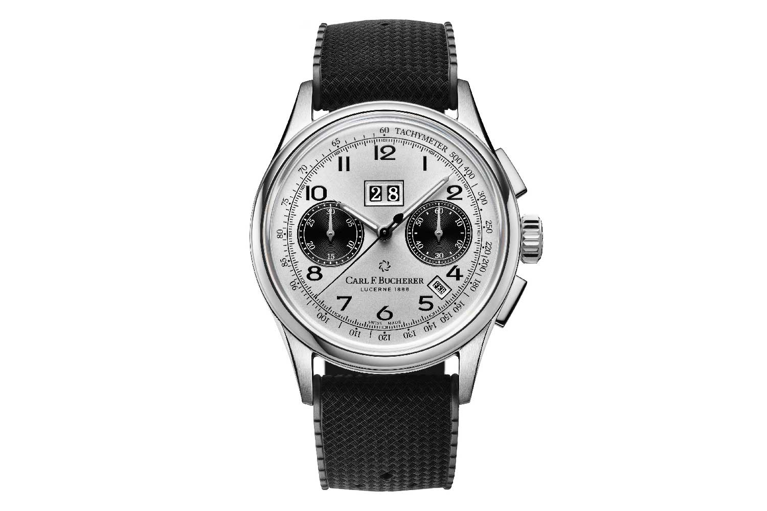 At Watches & Wonders 2021, Carl F. Bucherer introduced a new contrasting version of its popular Heritage BiCompax Annual, this time in steel with a silver dial and black-coloured subdials.