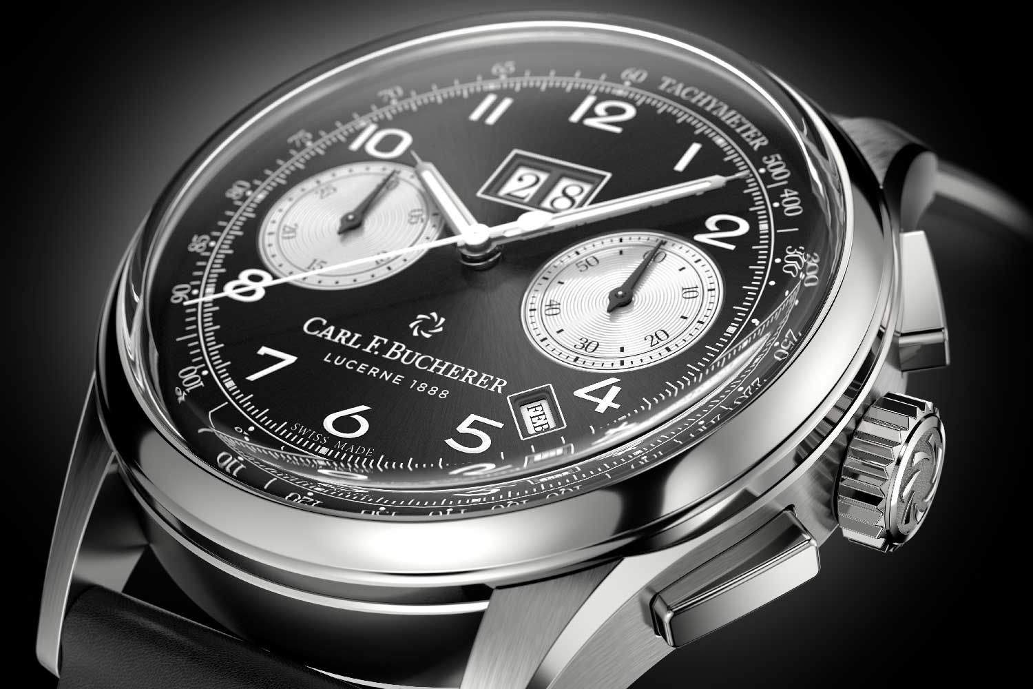 The Heritage BiCompax Annual in steel with a black dial and silver-coloured subdials released this year.