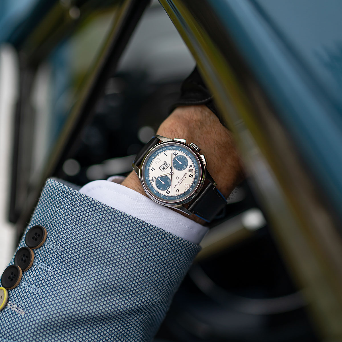 The Heritage BiCompax Annual Lucerne on the wrist