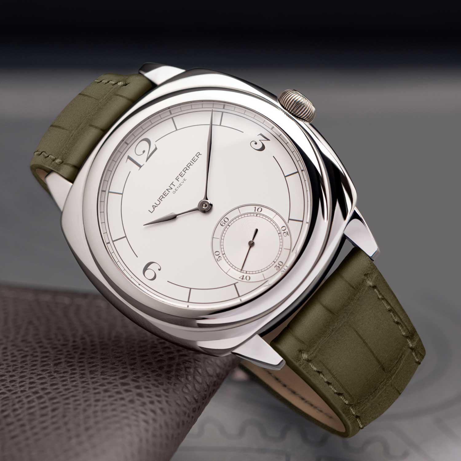 The 2021 Laurent Ferrier Square Micro-Rotor in steel