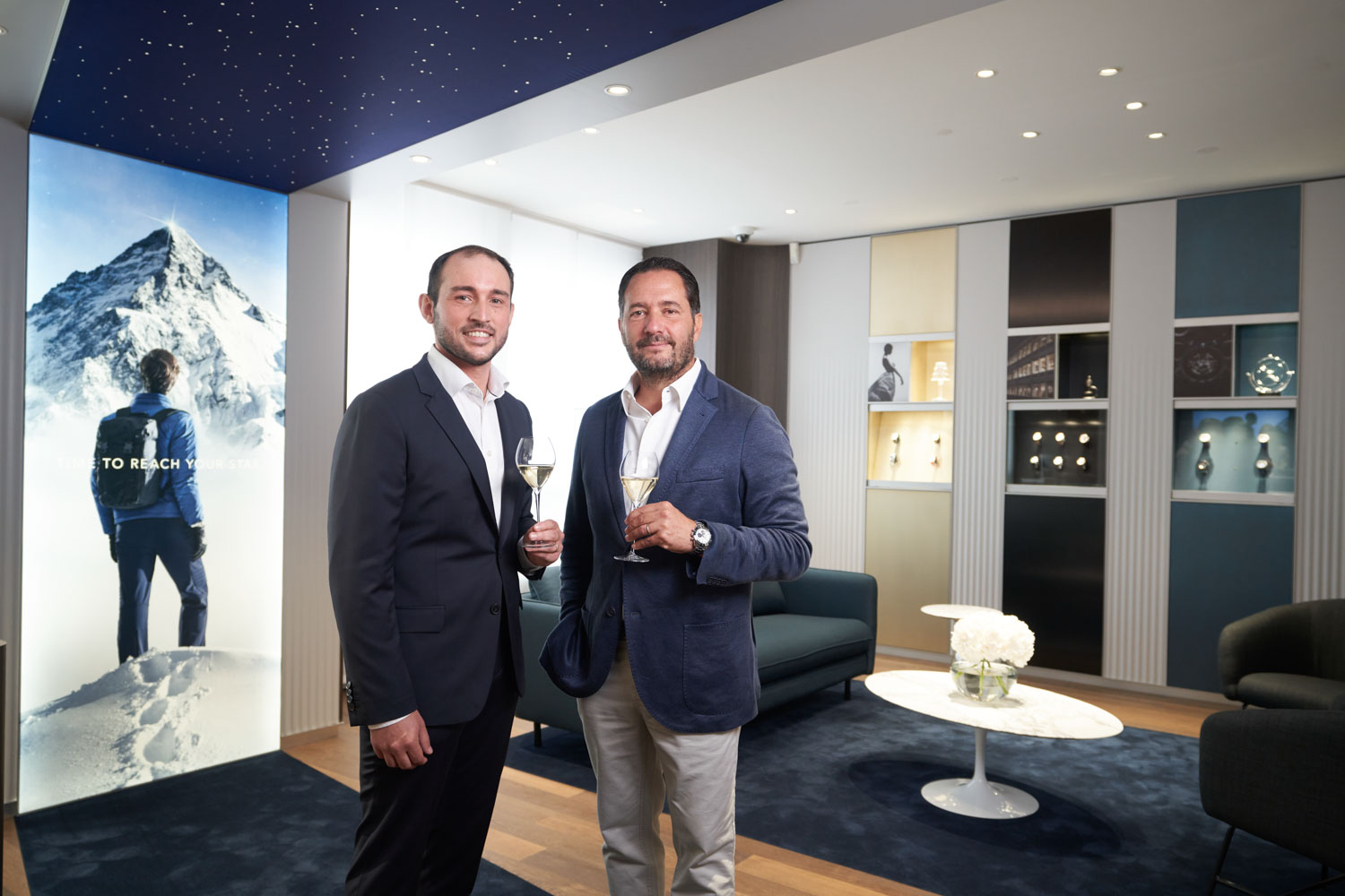 (R-L) Zenith CEO, Julien Tornare and the Brand Manager in Switzerland, Jean-Philippe Masson