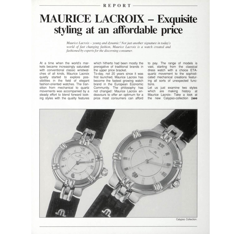Maurice Lacroix's iconic Calypso timepieces