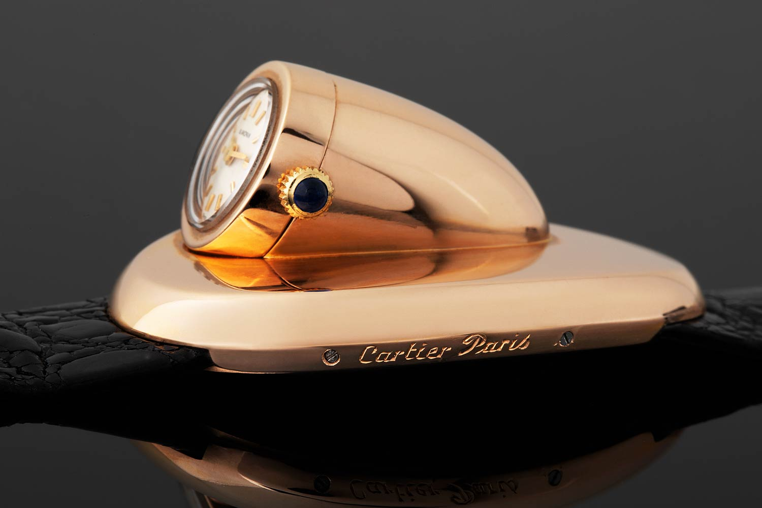 An unique prototype Cartier Driver's watch during late 1960's