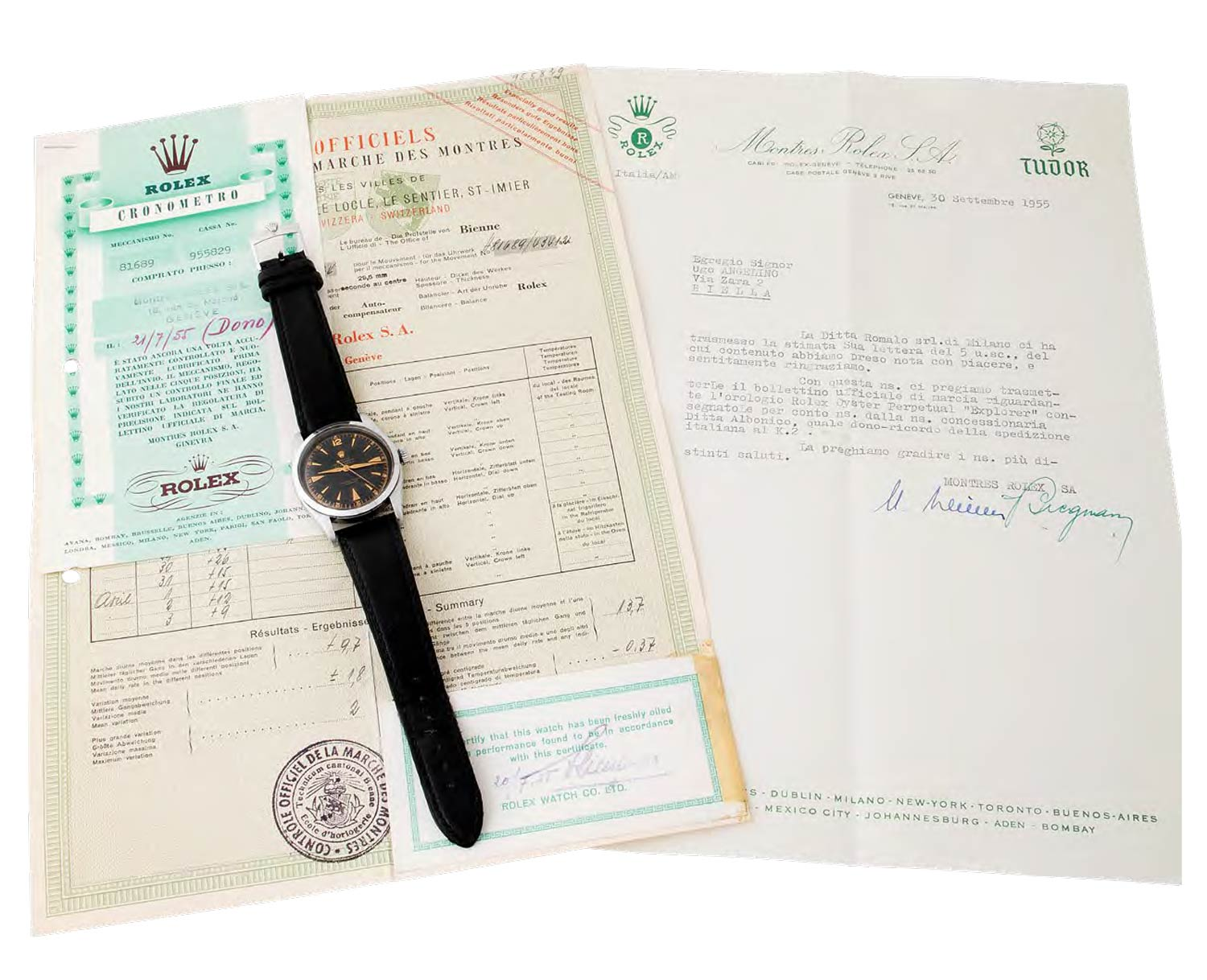 Accompanied by its original certificate, bulletin, and original Rolex letter