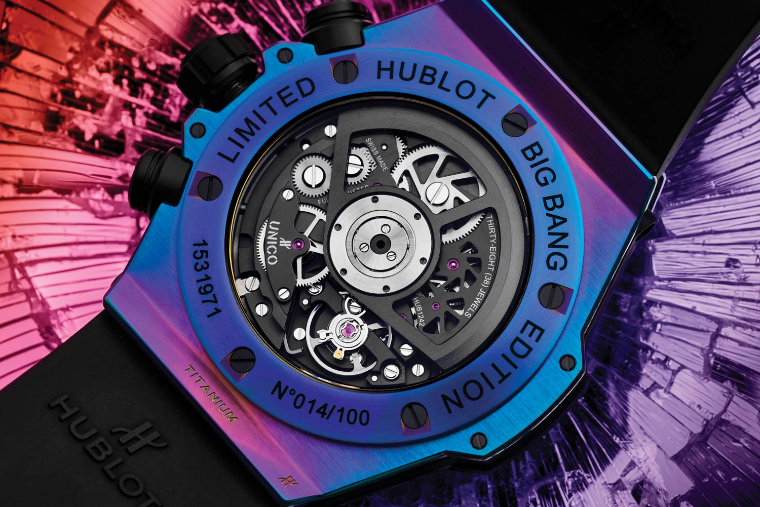The HUB1242 Unico in-house automatic movement