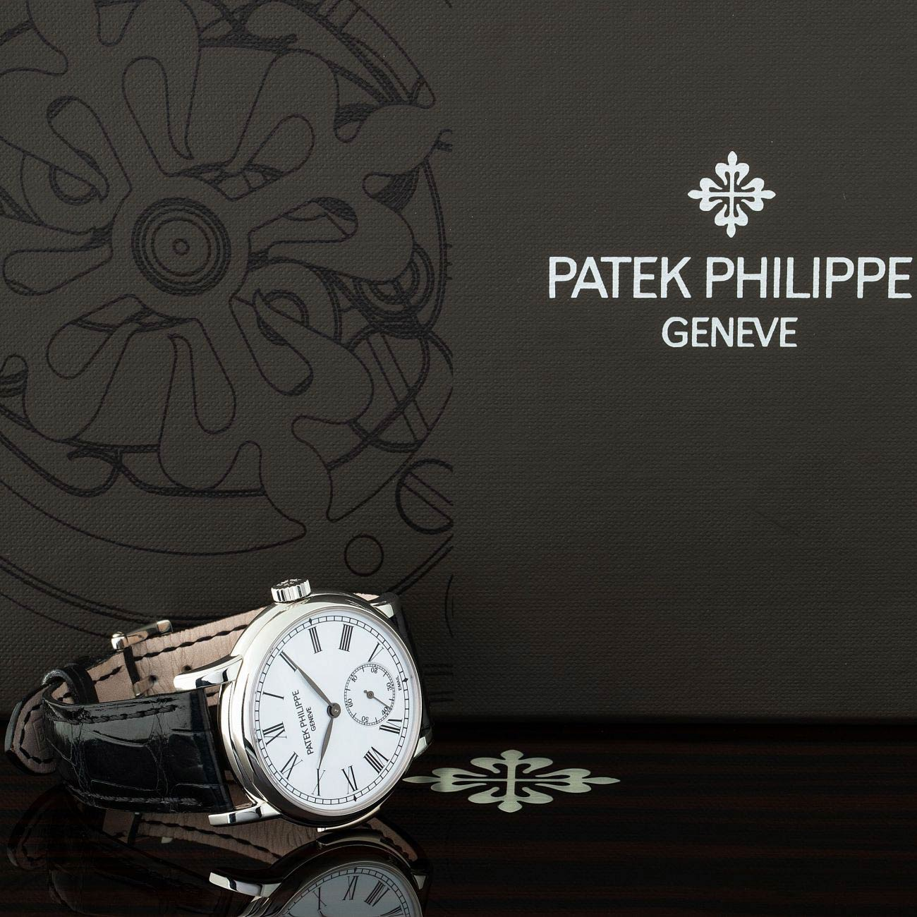 Lot 150 Patek Philippe: Gorgeous and Very Rare Minute Repeater Wristwatch in Platinum, Reference 5078p, with Enamel Dial, Box, Certificate of Origin, Engine for Time-Machine and Book