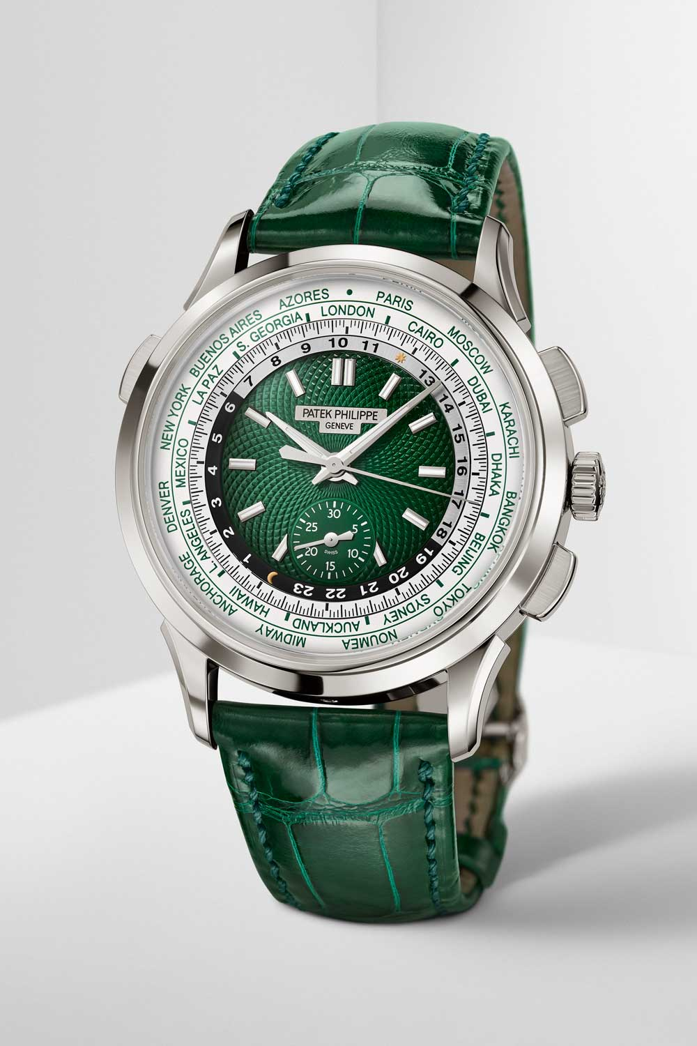 Reference 5930P-001 Self-winding World Time Flyback Chronograph in platinum