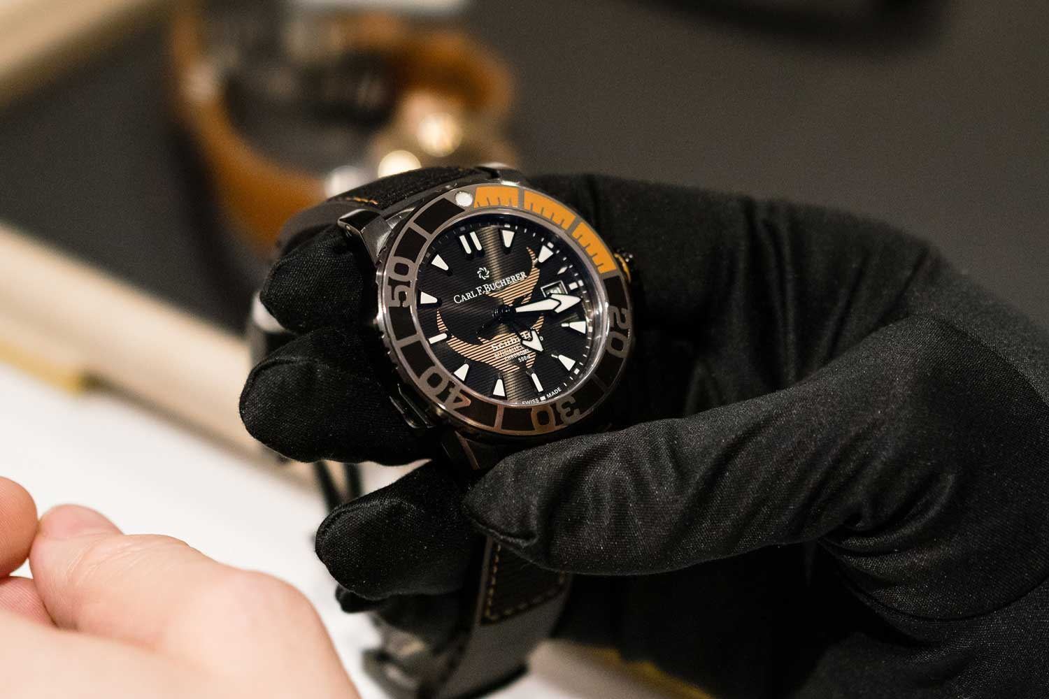 The Patravi ScubaTec Black Manta Special Edition was launched at Baselworld 2019 and is Carl F. Bucherer's second special- edition timepiece dedicated to the Manta Trust