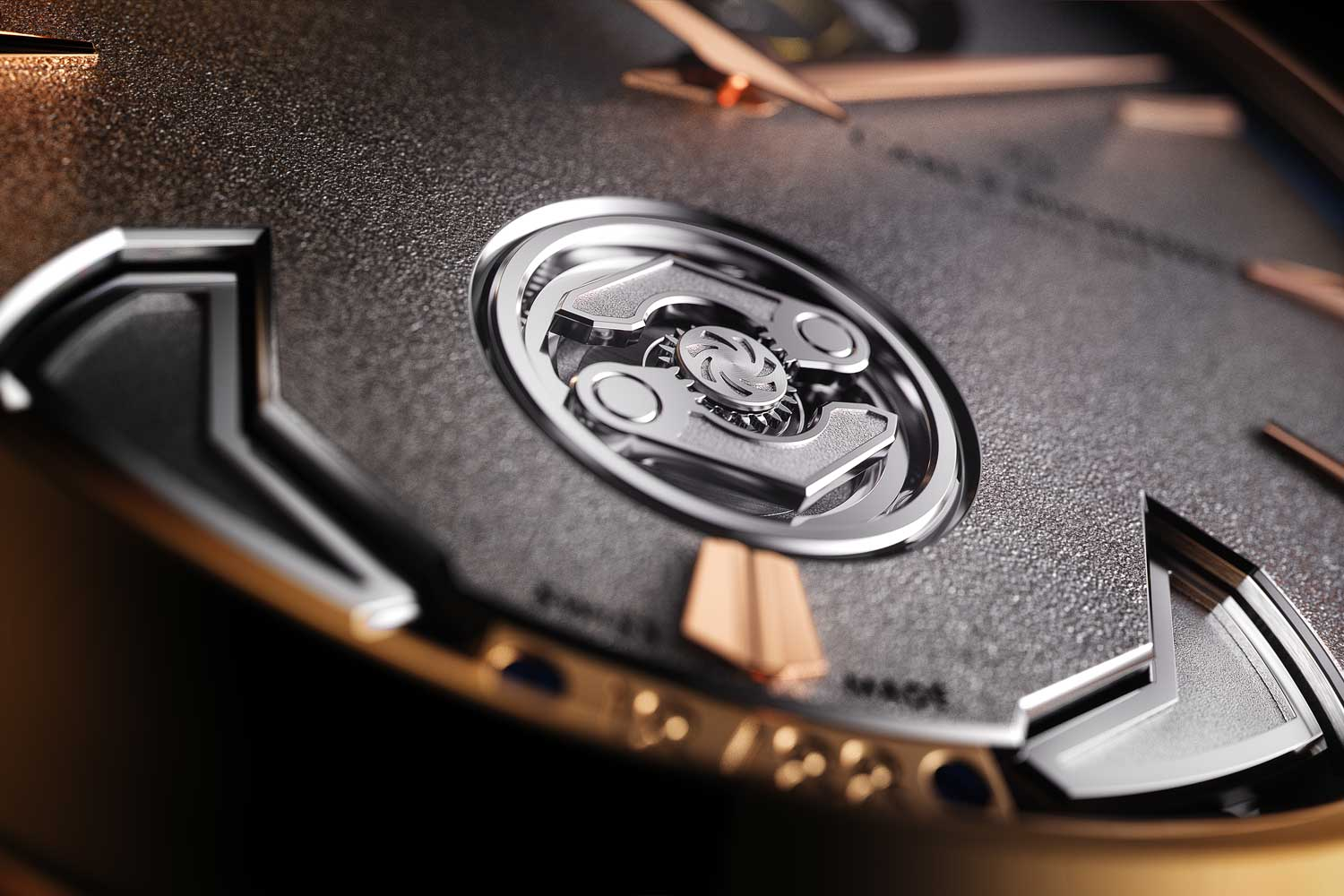 """Introduced at Watches and Wonders 2021, the Manero Minute Repeater Symphony boasts not only Carl F. Bucherer's Peripheral Winding System and floating Peripheral Tourbillon but also a third peripheral mechanism, the watch's COSC certified Calibre CFB MR3000 is """"Triple Peripheral""""."""